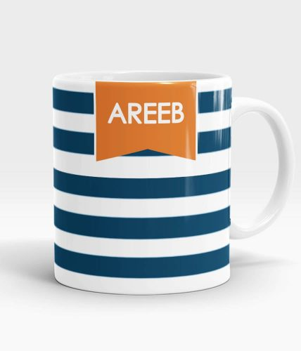 Stripes Name Mug - Customizable