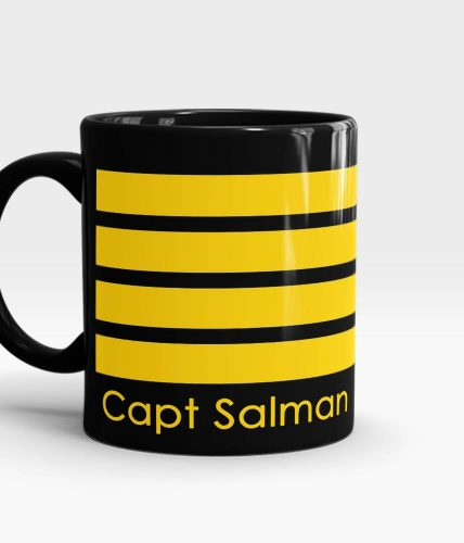 Pilot Stripes Name Mug
