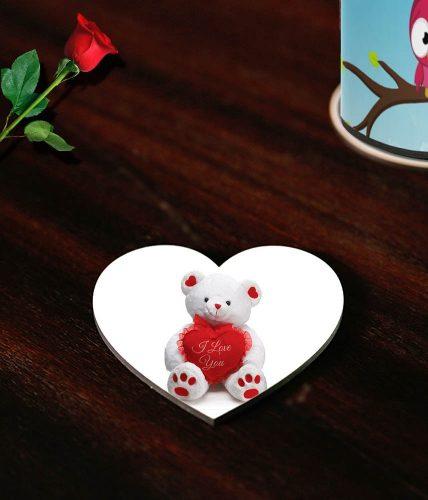 Happy Valentine's Bear Coasters