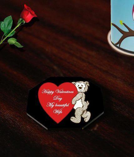 Wife Valentine's Day Coasters
