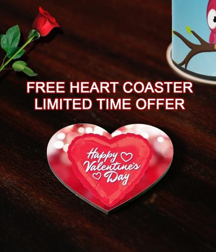 Valentine's Day 2018 Exclusive Name Artwork Mug + Free Heart Coaster
