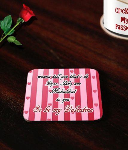 Pyar Ishq Valentine's Day Coasters