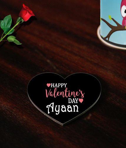 Happy Valentine's Day Name Coasters