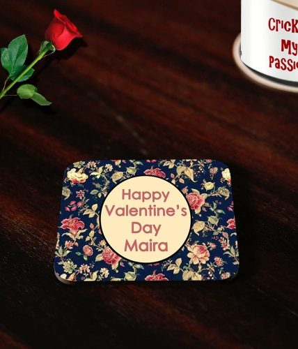 Valentine's Day Elegant Name Coasters