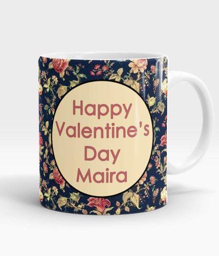 Valentine's Day Elegant Name Mug