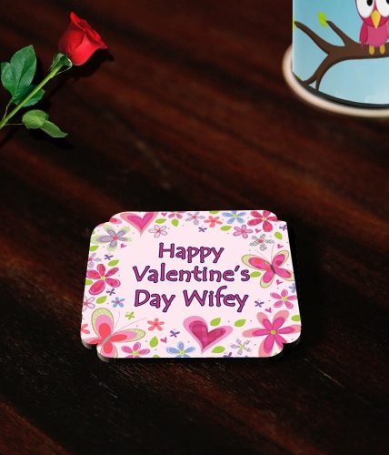 Valentine's Day Floral Name Coasters