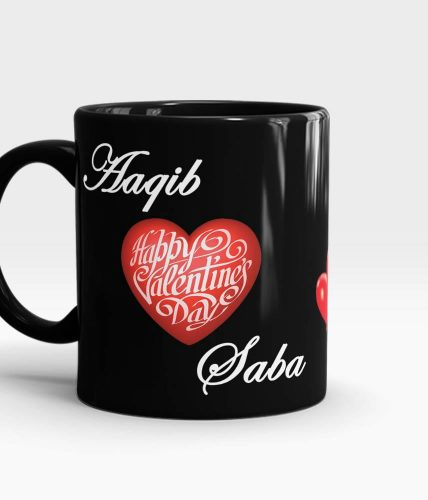 Valentine's Day Couple Names Mug