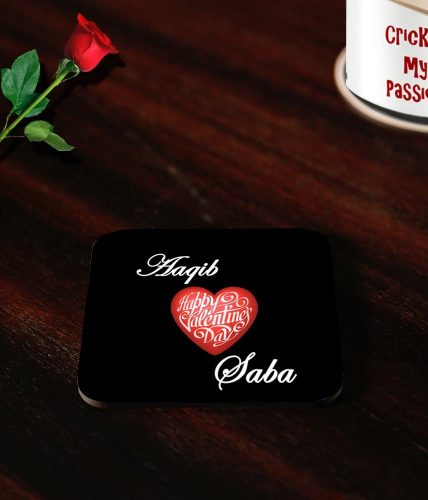 Valentine's Day Couple Names Coasters