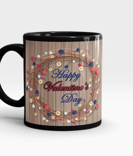 Valentine's Day Wooden Theme Mug