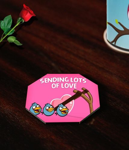 Valentine's Day Angry Birds Coasters