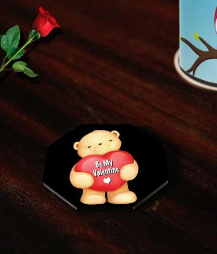Be My Valentine Bear Coasters