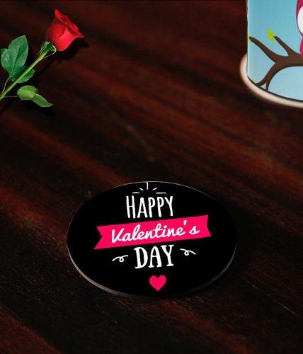 Happy Valentine's Day Elegant Coasters