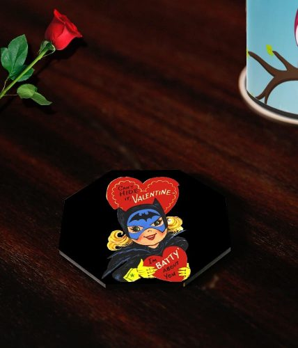 Valentine's Day Batwoman Coasters