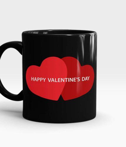 Valentine's Day Couple Hearts Mug