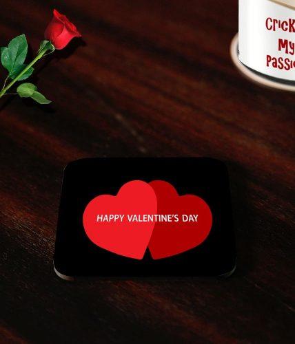 Valentine's Day Couple Hearts Coasters