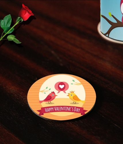 Love Birds Valentine Coasters