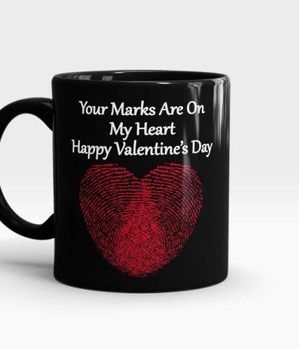 Heart Finger Print Valentine Mug