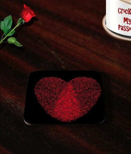 Heart Finger Print Valentine Coasters