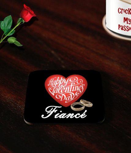Fiancé Valentine's Day Coasters