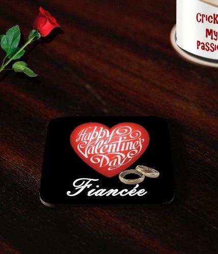 Fiancée Valentine's Day Coasters