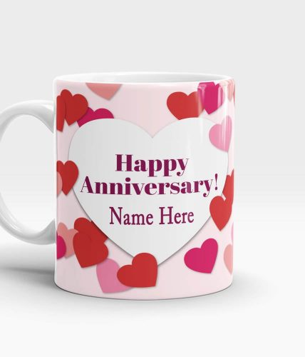 Happy Anniversary Name Mug