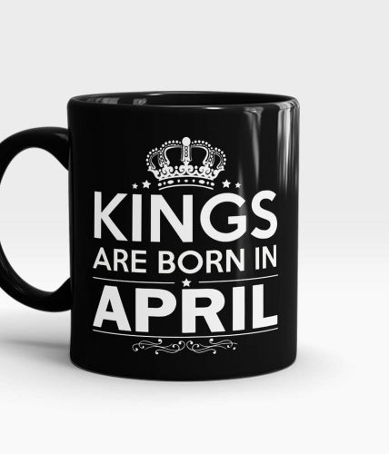 Kings Born In April Mug