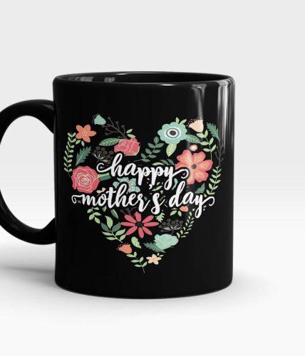 Mother's Day Teal Heart Mug