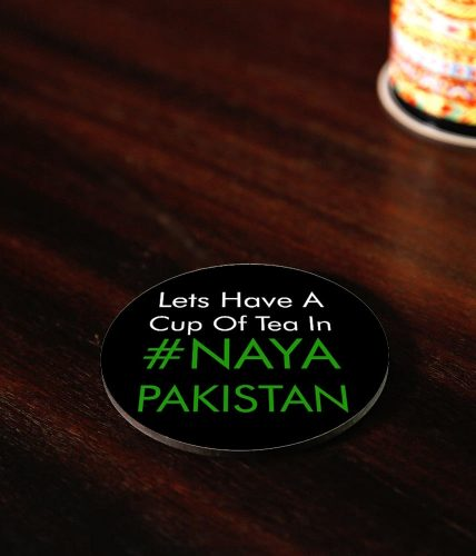 Tea In Naya Pakistan Coasters