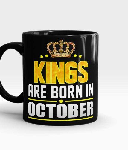 Kings Born In October Mug