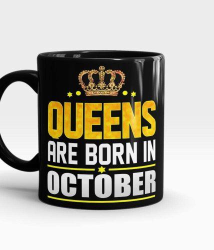 Queens Born In October Mug