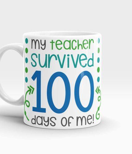 Teacher Survived 100 Days Mug