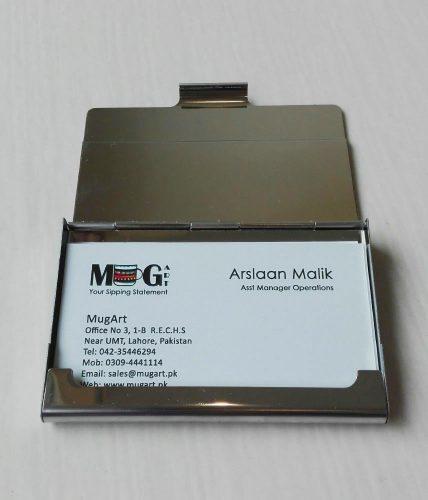 Name Engraved | Wooden Metal Visiting Cards Holder