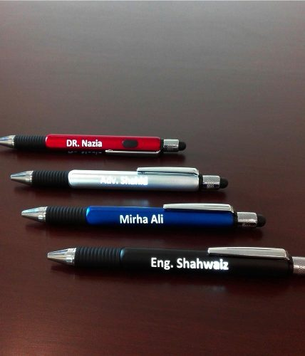 Backlit Name Pen With Stylus, Scale & Screwdriver