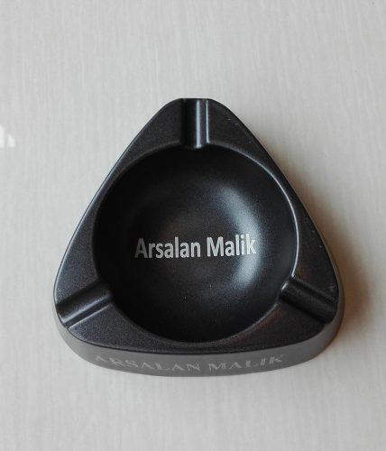 Name/Text Engraved Metal Ashtray