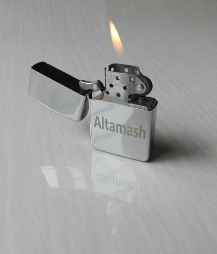Happy New Year Lighter With Name