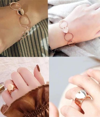 Retractable Heart Ring Bracelet
