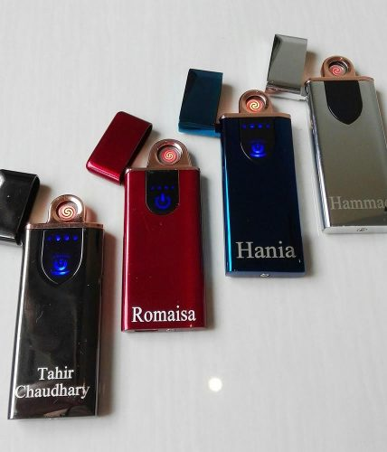 Rechargeable Electronic Lighter Touch Sensor Name Engraved