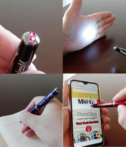 Laser Pointer Pen With LED Flashlight & Stylus