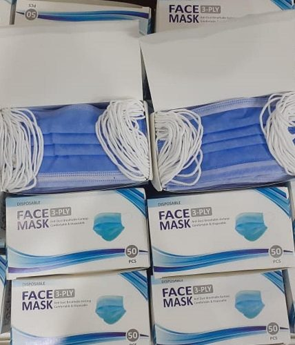 Face Masks | 3-PLY Nose wire | Box of 50