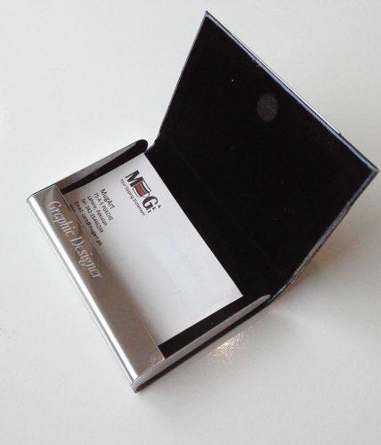 Self-Textured | Name Engraved | Visiting Cards Holder Blue