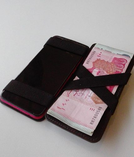 Magic Mobile Leather Wallet | With Printed Name