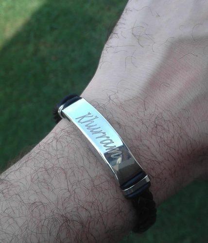 Leatherette Name Bracelet | Unisex | Customized